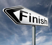 Finish — Stock Photo