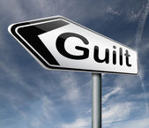 Guilt arrow — Stock Photo