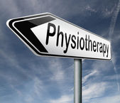 Physiotherapy or physical therapy by therapist for rehabilitation after sports injury or accident — Stock Photo