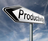 Productivity industrial or business productive — Stock Photo