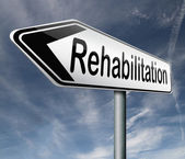 Rehabilitation rehab for drugs alcohol or sport and accident injury physical or mental therapy — Stock Photo