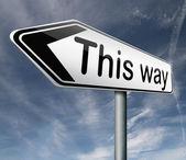 This way — Stock Photo