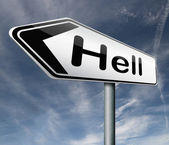 Hell road — Stock Photo