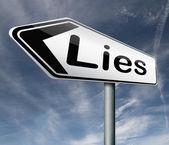 Lies break promise — Stock Photo