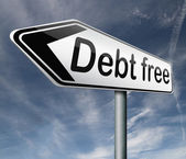 Debt free — Stock Photo