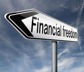 Financial freedom — Stockfoto