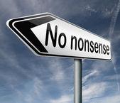 No nonsense — Foto Stock
