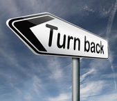 Turn back — Stock Photo