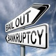 Stock Photo: Bailout bankruptcy