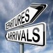 Stock Photo: Departures and arrivals