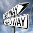 Easy or hard way — Stock Photo