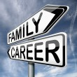 Family or career — 图库照片
