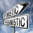 Optimistic or pessimistic — Stock Photo