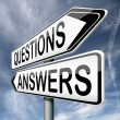 Stock Photo: Questions and answers