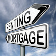 Mortage or renting - Stock Photo