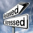 Stressed or relaxed - Stock Photo