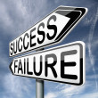 Stock Photo: Success or failure