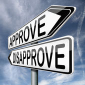 Approve or disapprove — Stock Photo