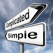 Complicated or simple — Stock Photo
