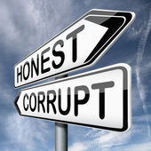 Corrupt or honest — Stock Photo
