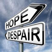 Umut ya da umutsuzluk — Stok fotoğraf