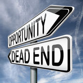 Opportunity or dead end — Stock Photo