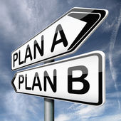 Plan A or B — Stock Photo