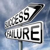 Success or failure — Stock Photo