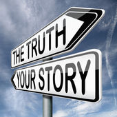 The truth or your story — Stock Photo