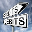 Debits or credits — Stock Photo #18934477