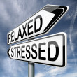 Постер, плакат: Relaxed or stressed