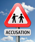 Accusation — Stock Photo