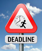 Deadline — Stock Photo