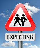 Expecting — Stockfoto