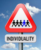 Individuality — Stock Photo