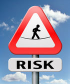 Risks ahead — Stock Photo