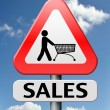 Sales sign — Stock Photo