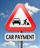 車の支払い — ストック写真
