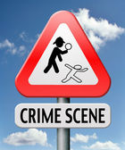 Crime investigation — Stock Photo