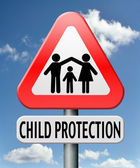 Child protection — 图库照片