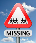 Missing — Stock Photo