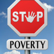 Stock Photo: Stop poverty