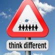 Think different — Stock Photo