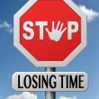 Stop lozing time — Stock Photo