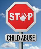 停止虐待儿童 — 图库照片