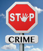 Stop crime — Stock Photo