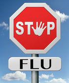 Stop grippe — Stockfoto