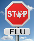 停止流感 — 图库照片