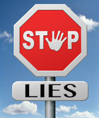 Stop leugens — Stockfoto