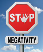 Stop negativity — Stock Photo